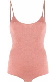 Stella Mccartney Body Metálico - Rosa