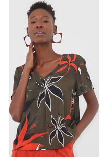 Camiseta Forum Floral Verde - Kanui