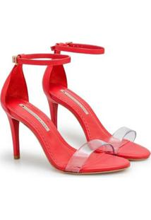 Sandália Napa Dubai Pistache Vinil Sapatinho De Luxo Feminina - Feminino-Vermelho