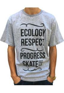 Camiseta Pgs Ecology Respect Masculina - Masculino-Cinza