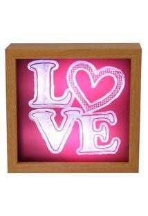 Luminária De Mesa Love Vermelha