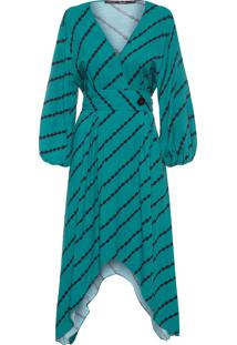 553060069 Vestido Maria Filo Verde feminino | Shoelover