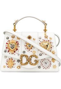 Dolce & Gabbana Bolsa De Mão Com Logo - Branco