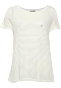 Blusa Dudalina Listrada Lurex Off-White
