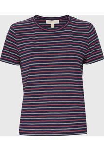 Camiseta Michael Kors Railroad Strp Listrado