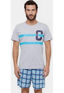 Pijama Censato Curto Sênior Masculino - Masculino