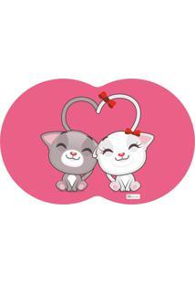 Tapete Pet Gatos Pink 55X35Cm