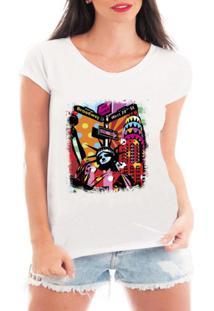 Camiseta Criativa Urbana New York City - Feminino-Branco