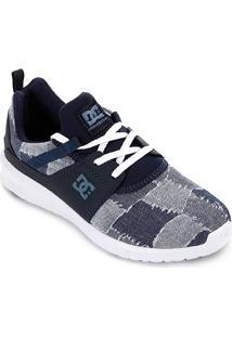 Tênis Dc Shoes Heathrow Low Feminino - Feminino-Azul+Branco