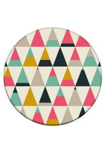 Tapete Love Decor Redondo Wevans Triangulos Multicoloridos 94Cm