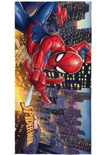Toalha De Banho Aveludada Spider Manâ® - Vermelha & Azul