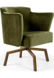 Poltrona Decorativa Lara -Domi Móveis - Verde