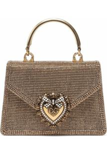 Dolce & Gabbana Bolsa Tote Devotion Mini - Dourado