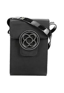 Bolsa Petite Jolie Mini Bag Alça Transversal Shiloh Bag Club Feminina - Feminino-Preto