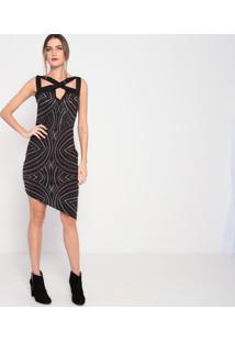 Vestido Com Termocolantes- Preto- My Favorite Thingsmy Favorite Things