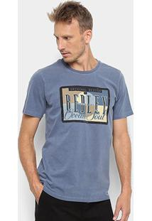 Camiseta Redley Tinturada Silk Placa Vintage Masculina - Masculino-Marinho