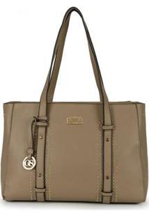 Bolsa Shopping Bag Gash Taupe Taupe