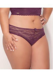 Calcinha Rendada Sizely Plus Deluxe (2419) Plus Size, Nude, 48