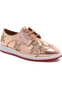 Sapato Oxford Zariff Shoes Metalizado Estrelas