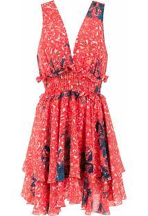 Clube Bossa Vestido Curto 'Freda' Estampado - Vermelho