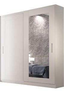 Guarda-Roupa Paris Com Espelho - 2 Portas - 100% Mdf - Branco