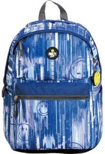 Mochila Smiley Gosuper Blue Sky Casual Com Porta Notebook Escolar Universitaria - Masculino