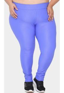 Calça Legging Plus Size Fila Feminina - Feminino-Azul Royal