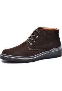 Bota Worker Over Boots Couro Camurça Marrom Urban