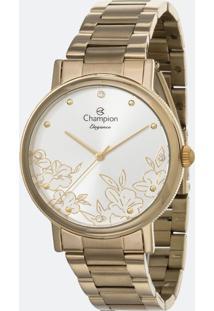 Kit Relógio Feminino Champion Cn25887W Analógico + Conjunto Semijóia