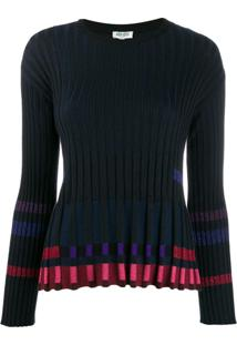 Kenzo Ridged Knitted Top - Preto