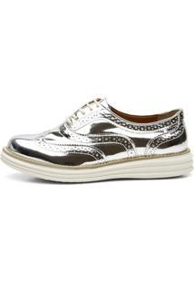 Sapato Oxford Casual Q&A 300 Prata