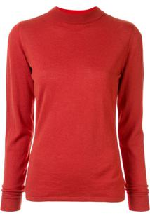 Vaara Suéter Decote Arredondado - Vermelho