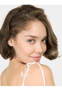 Blusa Com Alças Amarração Branco Off White - Lez A Lez