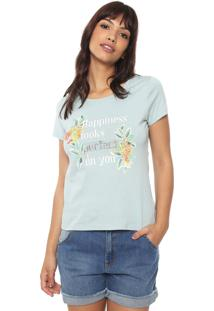Camiseta Hering Lettering Azul