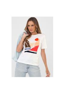 Camiseta Dzarm Paisagem Off-White