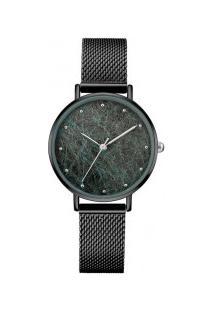 Relógio Feminino Oulm Ht3671S Silk-Star - Preto