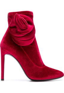 Giuseppe Zanotti Design Bota 'Celeste' De Veludo - Vermelho