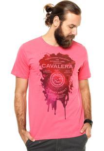 Camiseta Manga Curta Cavalera Mancha Rosa