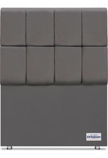 Cabeceira Piave Veluto Cinza Solteiro (12X90X125) Revestida Em Camurã§A Ortobom - Cinza - Dafiti