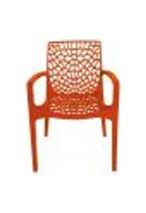Cadeira Gruvyer Com Braços Cozinha 44X45,5X89,5Cm Laranja