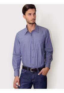 Camisa Azul E Branca Listrada