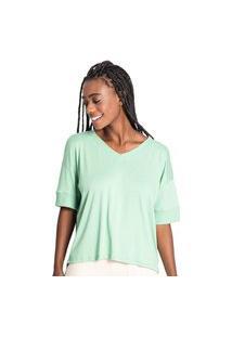Blusa Feminina Rovitex Endless Gola V Verde Claro