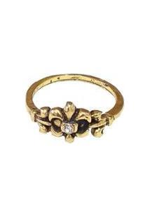 Anel Armazem Rr Bijoux Falange Ouro Vintage - Feminino-Dourado