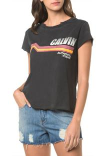 Blusa Ckj Fem Mc Authentic - Chumbo - Pp