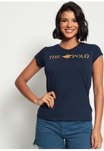 """Blusa """"The Polo""""- Azul Marinho & Douradaclub Polo Collection"""