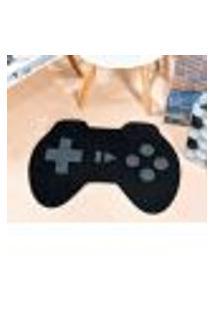 Tapete Gamer Vio Game Controle Preto 76Cm X 56Cm Antiderrapante
