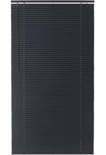 Persiana Horizontal Pvc Block Preto 130X140Cm