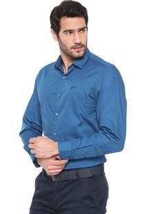 Camisa Yachtsman Reta Lisa Azul