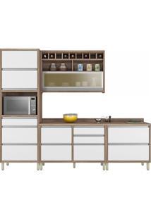 Cozinha Baronesa 4 Peças (Com Paneleiro) Branco Nesher