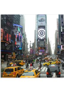 Quadro Nova York Taxis Uniart Colorido 30X30Cm